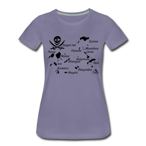 Crewshirt Motiv Griechenland - Frauen Premium T-Shirt