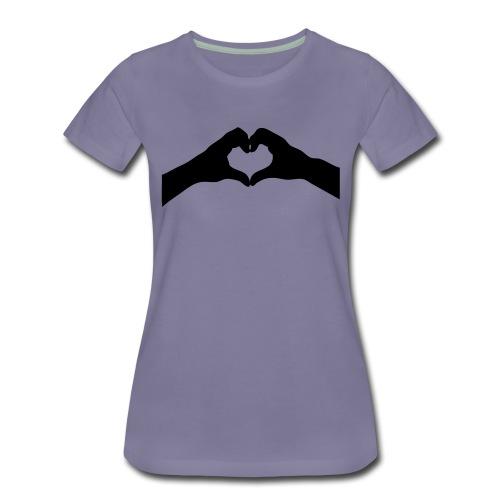 jolie petit coeur dans ma main (vector 1 couleur) - T-shirt Premium Femme