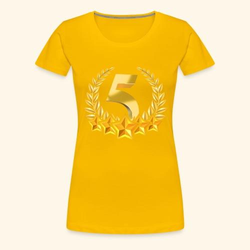 Fünf-Stern 5 sterne - Frauen Premium T-Shirt