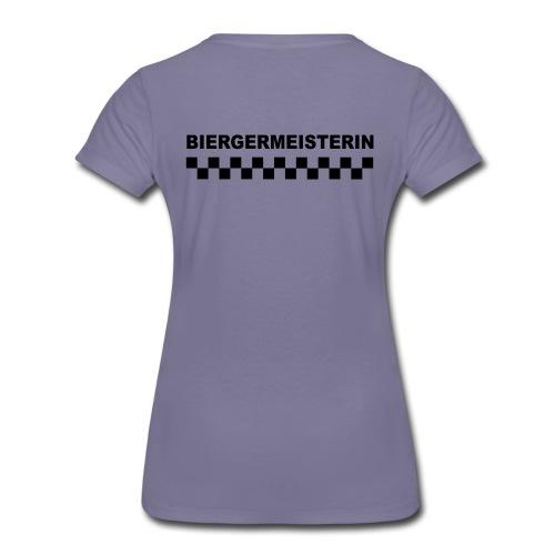 schriftzug weiblich mit karos - Frauen Premium T-Shirt