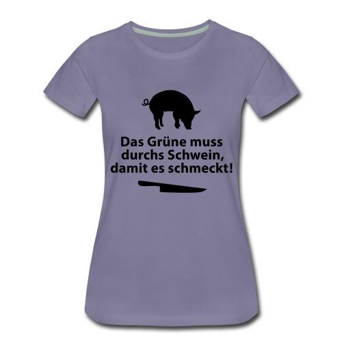 Gemüse Grill Schwein Fleisch Vegetarier Steak - Women's Premium T-Shirt