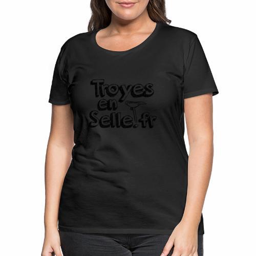 logo Troyes en Selle noir - T-shirt Premium Femme
