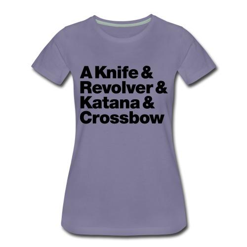 Zombie Weapons - Frauen Premium T-Shirt