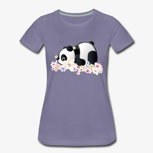 Flower Power Panda - Frauen Premium T-Shirt