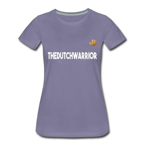 TheDutchWarrior_met_logo - Vrouwen Premium T-shirt