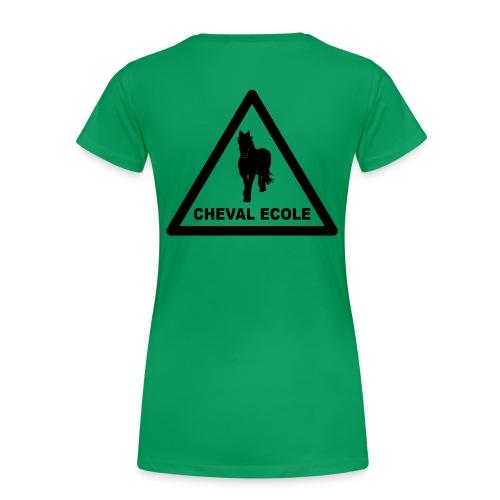 chevalecoletshirt - T-shirt Premium Femme