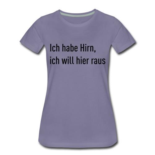 Flachsinn Tasse - Frauen Premium T-Shirt
