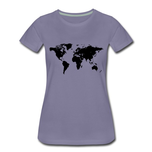 World Map - Frauen Premium T-Shirt