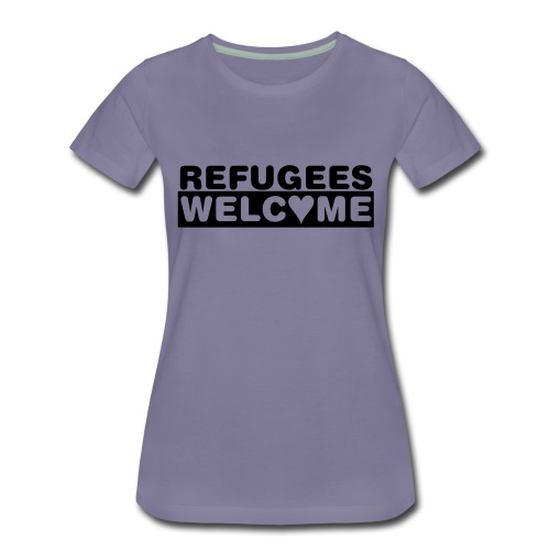 Refugees welcome! - Frauen Premium T-Shirt