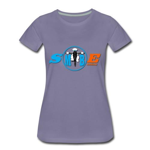 SMTBE biker logo DECAL orange big png - Women's Premium T-Shirt