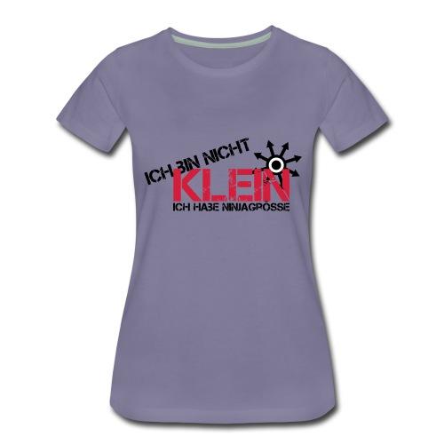 Ich bin nicht klein ich habe ninjagrösse - Frauen Premium T-Shirt