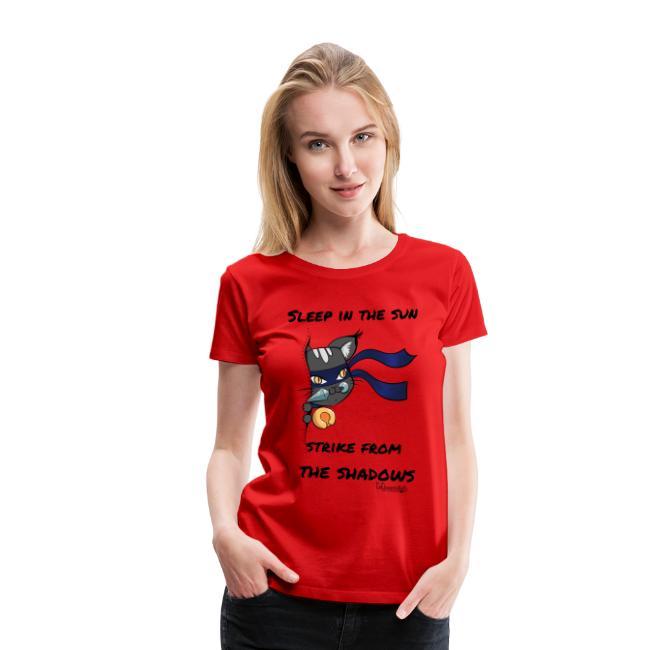 Ninja Cat gluurt vanuit shirt EnChantalled png