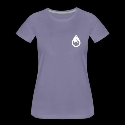 WS-Crew Tropfen-Logo weiß - Frauen Premium T-Shirt