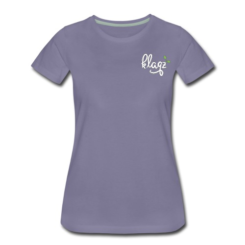 #kqz Seedling-Logo Weiß-Grün - Frauen Premium T-Shirt
