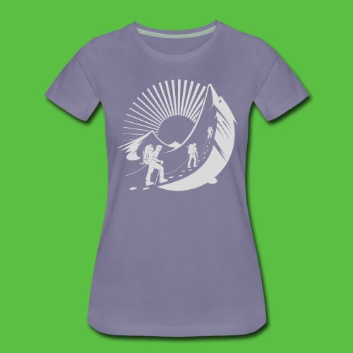 Climbing Mountain - Frauen Premium T-Shirt