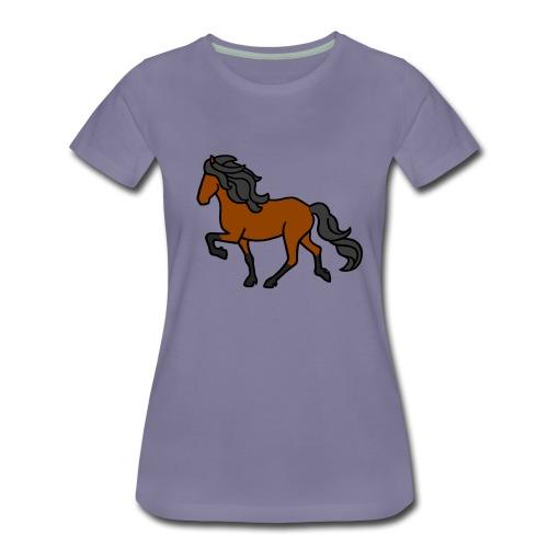 Islandpferd, Brauner, heller - Frauen Premium T-Shirt
