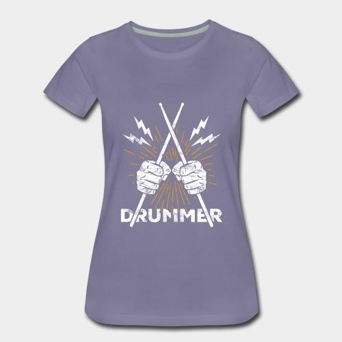 Drummer Schlagzeug Drumsticks Rock'n'Roll - Frauen Premium T-Shirt