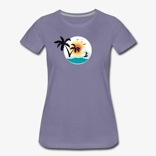 Surfing in paradise - Frauen Premium T-Shirt