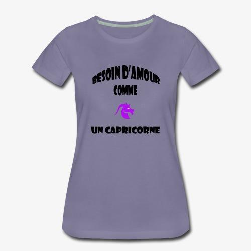 capricorne - T-shirt Premium Femme