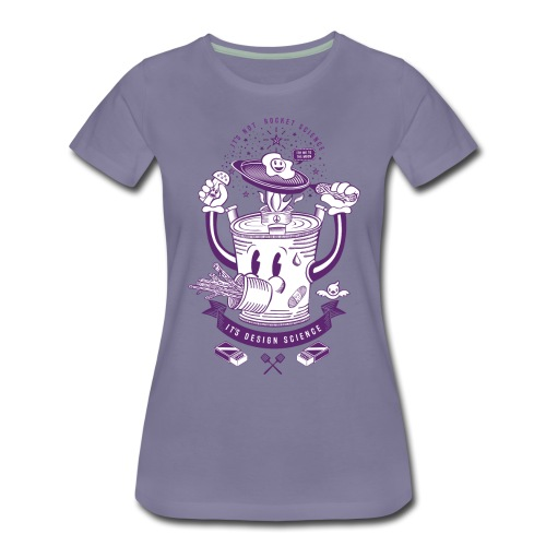 MR Rocket Stove (purple) - Women's Premium T-Shirt