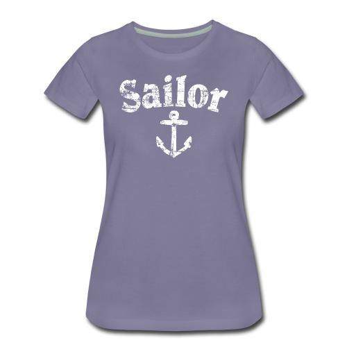 Sailor Anker Segeln Segel Segler (Vintage/Weiß) - Frauen Premium T-Shirt