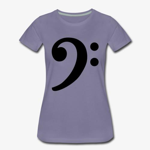 Notenschlüssel (Bass) Bassschlüssel - Frauen Premium T-Shirt