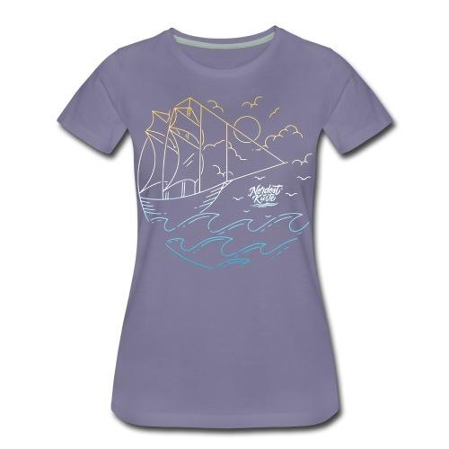 Schiff mit Sonne und Meer - Frauen Premium T-Shirt