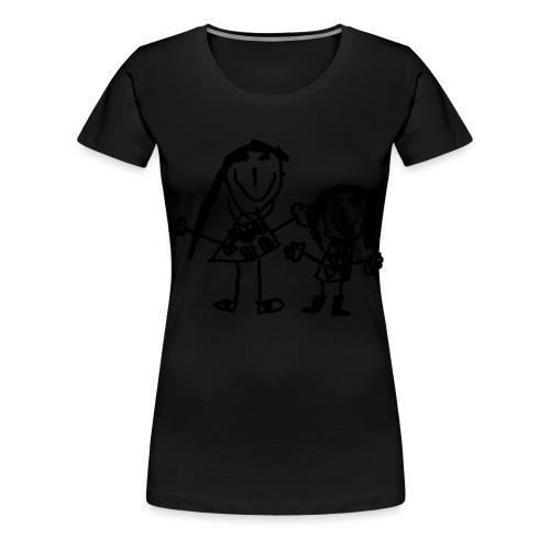maman et fille - Frauen Premium T-Shirt