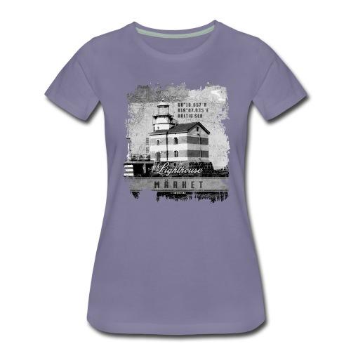 Märket majakkatuotteet, Finland Lighthouse, Harmaa - Naisten premium t-paita