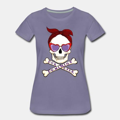 Feminist skull - Camiseta premium mujer