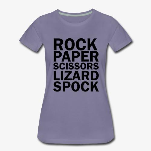 rock paper scissors lizard spock - Women's Premium T-Shirt