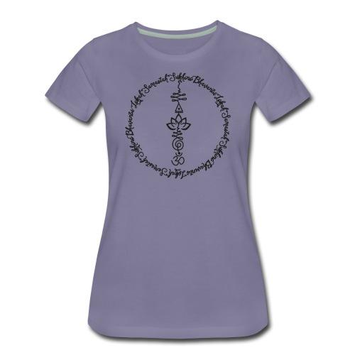 Yoga Mantra Lokah Sukhino Bhavantu Design Tshirt - Frauen Premium T-Shirt