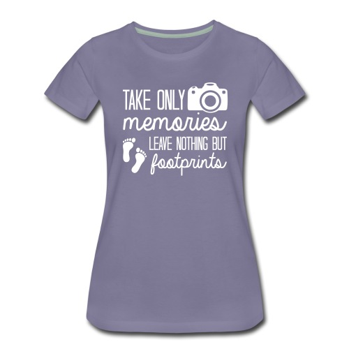 footprints - Women's Premium T-Shirt