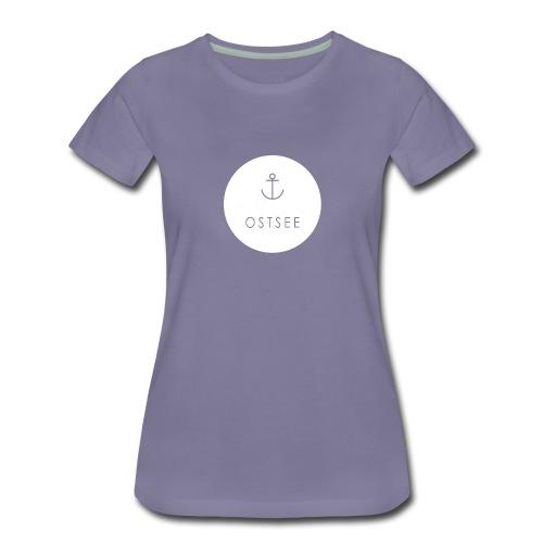 Ostsee Button - Frauen Premium T-Shirt