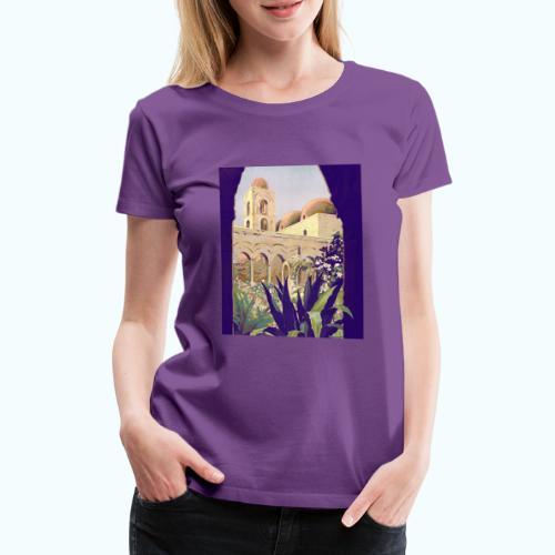Palermo Vintage Travel Poster - Women's Premium T-Shirt