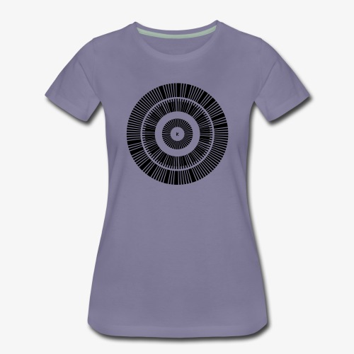Kunstrukt Barcode Kreis - Frauen Premium T-Shirt