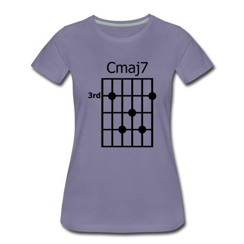 Chord diagram Cmaj7 - Frauen Premium T-Shirt