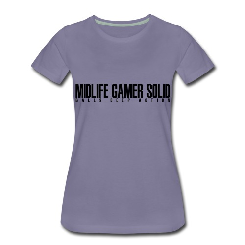 Midlife_Gamer_Solid_2 - Women's Premium T-Shirt