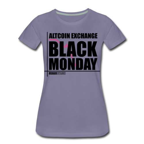 Crypto Black Monday - Frauen Premium T-Shirt