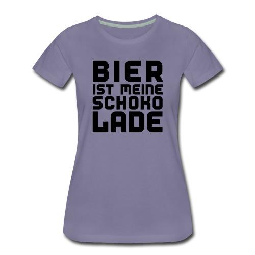 Bier ist meine Schokolade - Frauen Premium T-Shirt