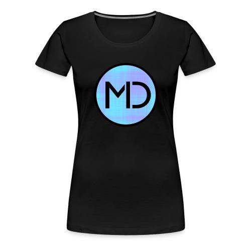 MD Blue Fibre Trans - Women's Premium T-Shirt