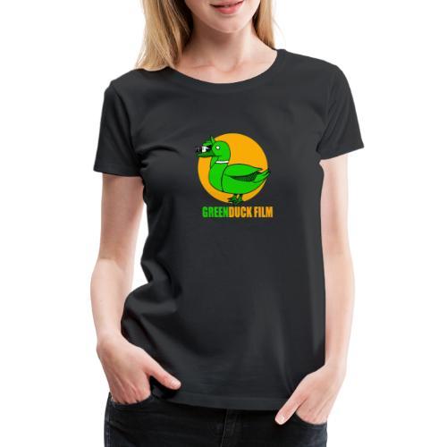 Greenduck Film Golden Sun Logo - Dame premium T-shirt