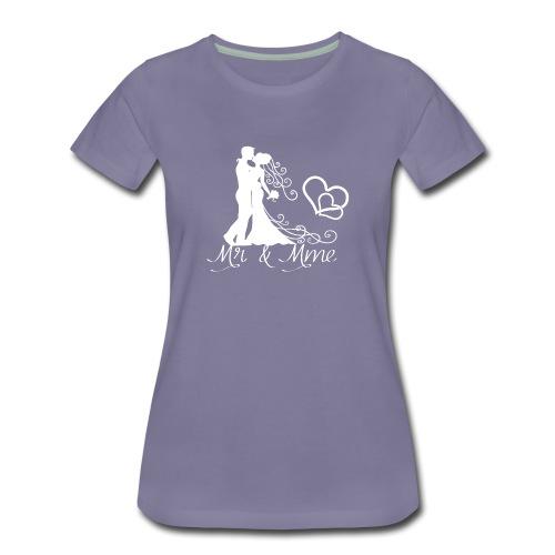 Mr & Mme - Couple romantique silhouette blanche - T-shirt Premium Femme