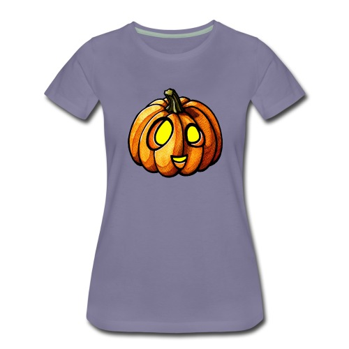 Pumpkin Halloween watercolor scribblesirii - Frauen Premium T-Shirt