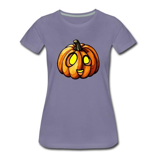 Pumpkin Halloween watercolor scribblesirii - Vrouwen Premium T-shirt