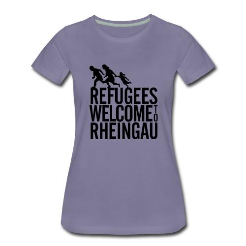 Refugees Welcome to Rheingau Pullover Front&Back - Frauen Premium T-Shirt