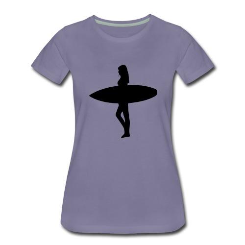 Surfergirl - Frauen Premium T-Shirt