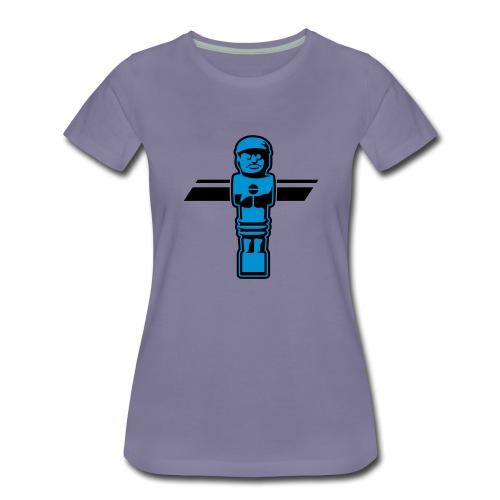 Soccerfigur 2-farbig - Kickershirt - Frauen Premium T-Shirt