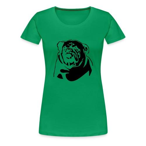 English Bulldog - negative - Naisten premium t-paita