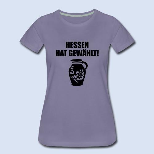 Hessenwahl Bembel - Frauen Premium T-Shirt